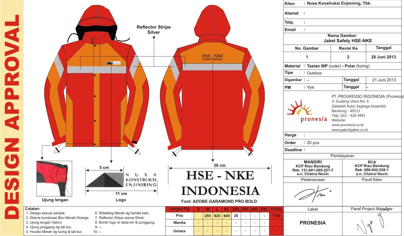 jaket NKE versi orange