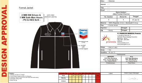 Jaket Formal Chevron